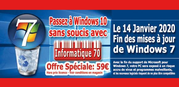 Fin des mises à jour de Windows 7 - Informatique 70 vous accompagne